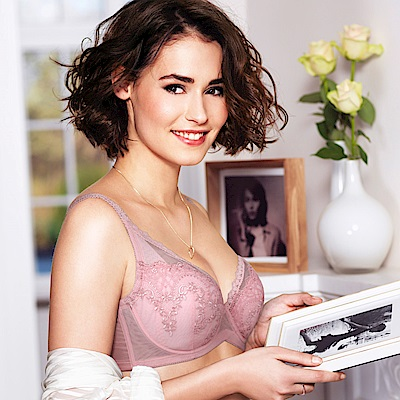 黛安芬-美型大女人系列 F罩杯內衣(乾燥玫瑰)