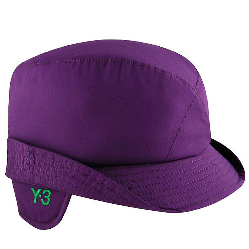 Y-3山本耀司 高質感輕量鋪棉飛行帽-紫色【ML】