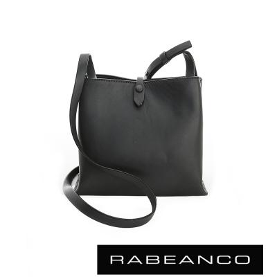 RABEANCO 迷時尚牛皮系列經典方型肩背包 - 暗灰藍