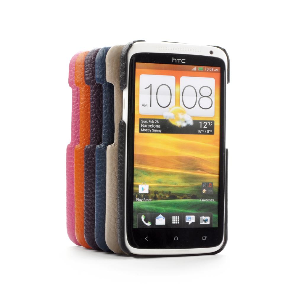 皮套王精品手工 HTC One X 純牛皮後背保護殼