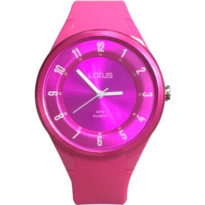 Lotus 亮色潮流 立體指針休閒錶(TP2117M-01)-桃紅/39mm