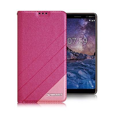 Xmart for Nokia 7 Plus 6吋 完美拼色磁扣皮套