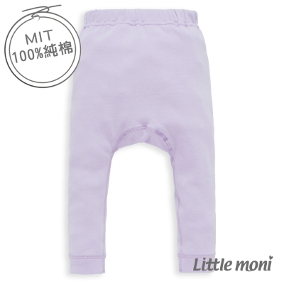 Little moni 純棉家居系列素面幼兒睡褲 薰衣草紫