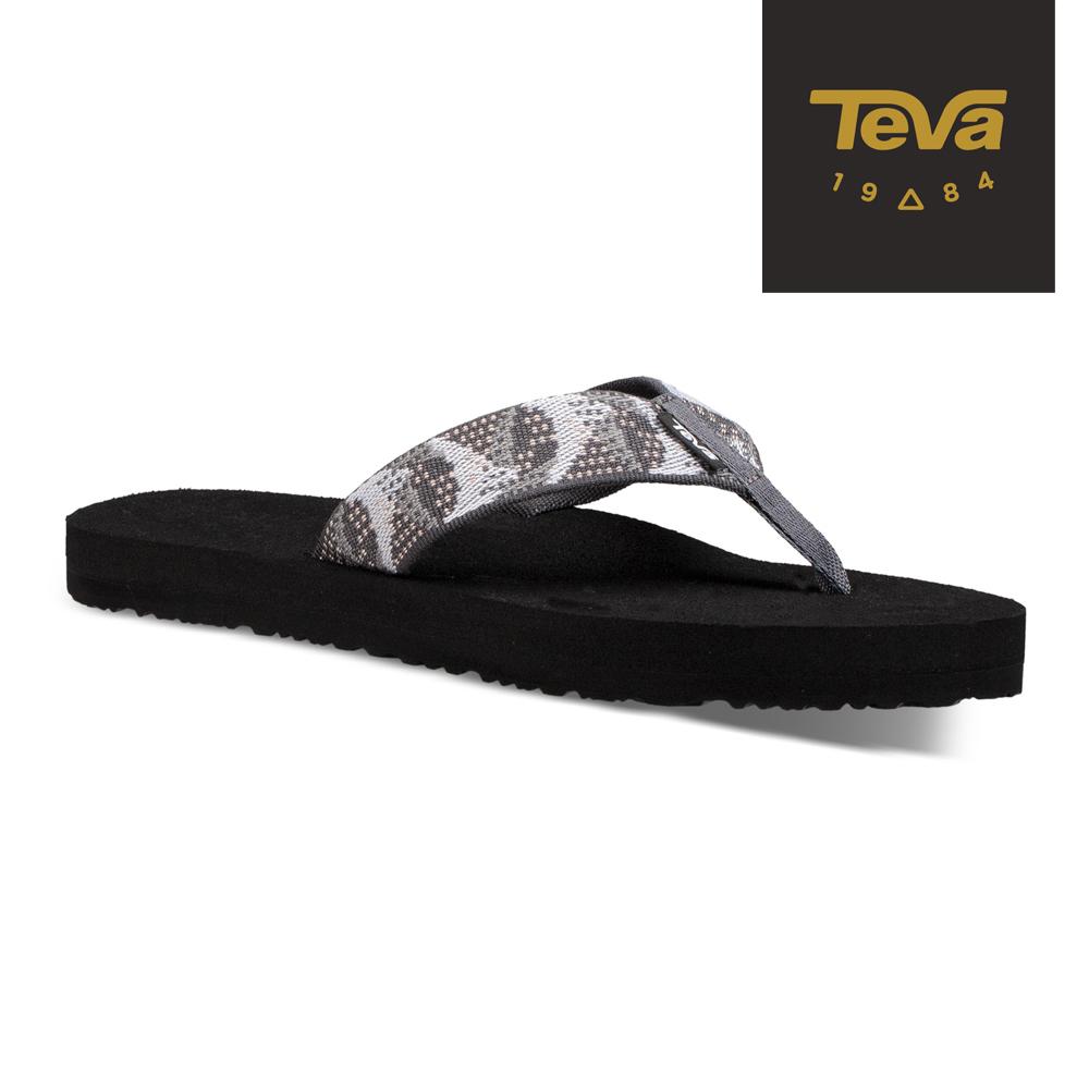 TEVA 原廠貨-女 Mush II 經典織帶夾腳拖鞋/雨鞋/水鞋 花灰
