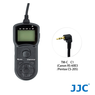 JJC TM-C 液晶定時快門線 C1 (相容 RS-60E3 / CS-205...