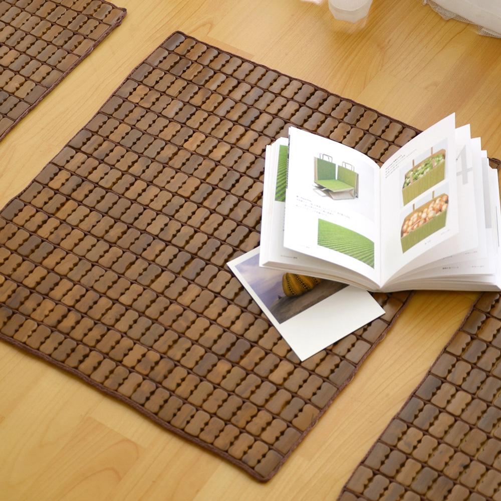 絲薇諾 天然炭化專利麻將竹坐墊-單人座(45×45cm)