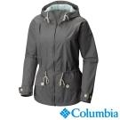【Columbia哥倫比亞】女-防潑連帽外套-灰綠色 URR10120GG
