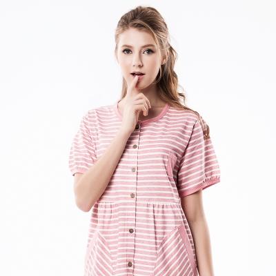 羅絲美睡衣 - 悠然時光短袖褲裝睡衣(俏皮粉)