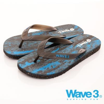 WAVE3男款渲染人字夾腳拖17101203藍