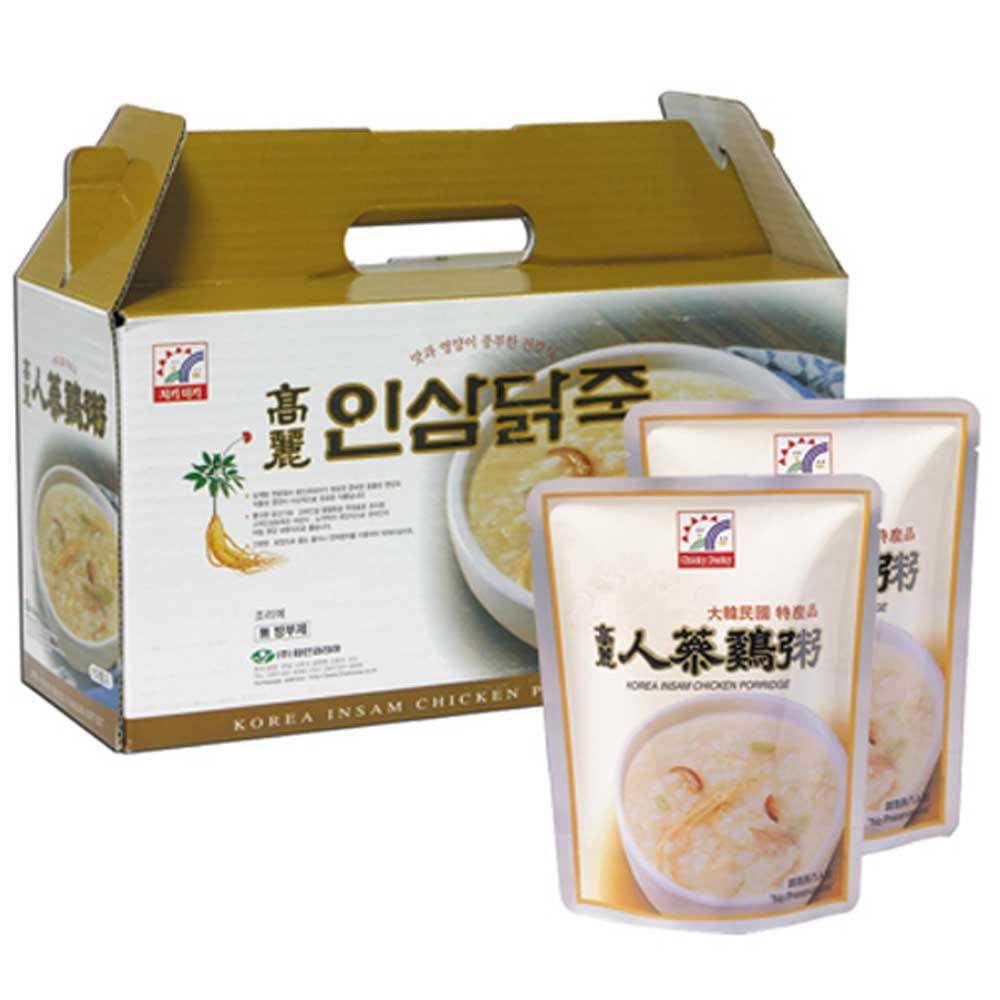 韓味不二 高麗人蔘雞粥禮盒(280gx10包)