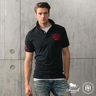 ROUSH-美式NYC貼布短袖polo衫(4色)