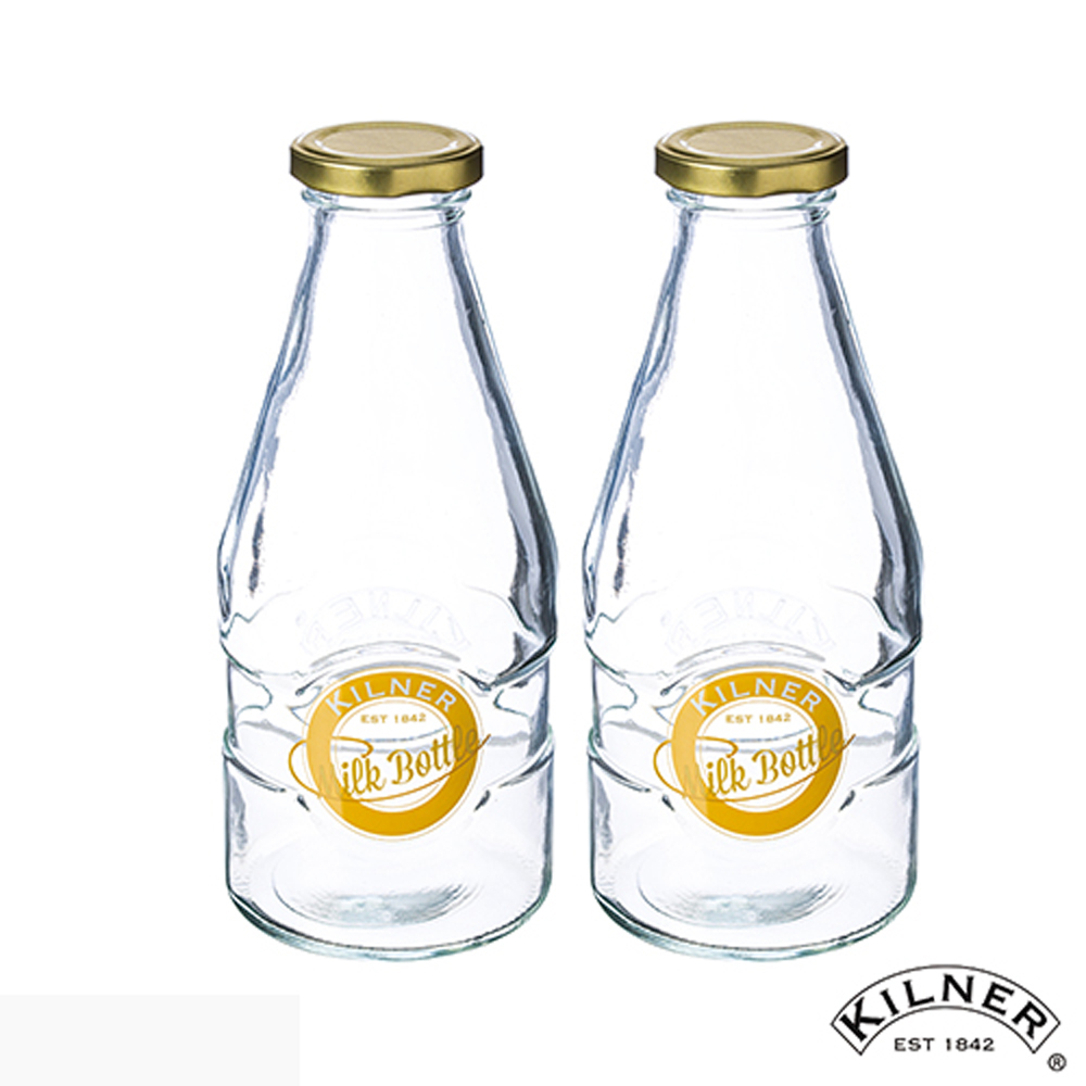 KILNER 玻璃牛奶罐 568ml 二入組