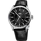 Oris Artix 指針式月亮周期機械腕錶-黑/42mm