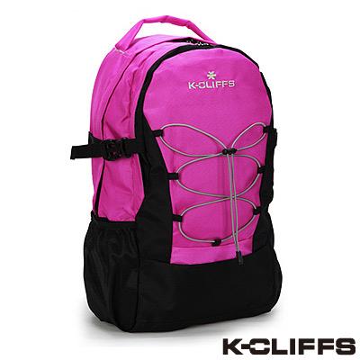 美國K-CLIFFS - 簡約輕巧雙肩後背包-焦點桃紅