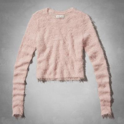 AF a&f Abercrombie & Fitch 女 針織衫 粉 0328