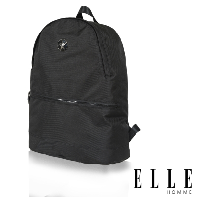 ELLE-HOMME-巴黎風輕旅商務休閒多功能後背包-黑