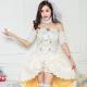 角色扮演 公主花嫁 甜美婚紗風洋裝表演服(白F) AngelHoney天使霓裳 product thumbnail 1