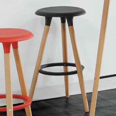 AS-德瑞克黑色高腳椅-36x36x77cm