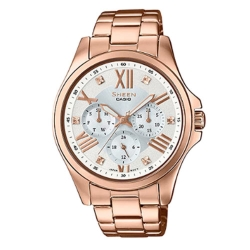 SHEEN羅馬時刻SWAROVSKI時尚腕錶(SHE-3806PG-7A)-銀白x玫瑰金39mm