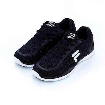FILA 女輕量慢跑鞋-黑5-J034S-001