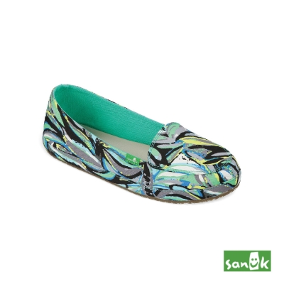 SANUK 熱帶印花娃娃鞋 -女款(綠色)