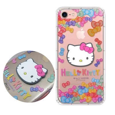 正版授權Hello Kitty iPhone8/iPhone7立體大頭空壓手機殼...