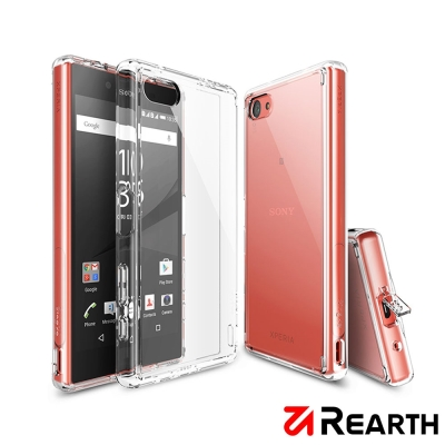 Rearth Sony Xperia Z5 Compact 透明保護殼(贈送保護...
