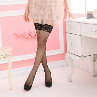華貴絲襪-性感尤物超細網蕾絲大腿網襪-黑-2雙