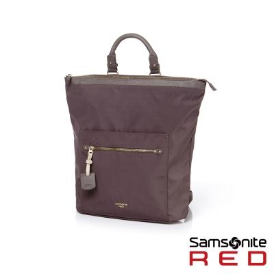 Samsonite-RED-COHRA俐落時尚兩用手提後背包-咖啡色