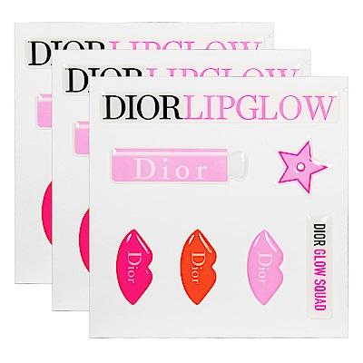 Dior 迪奧 LIPGLOW超癮誘粉漾潤唇膏立體貼紙*3