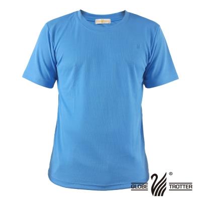 【遊遍天下】台灣製中性款輕量吸濕排汗機能圓領衫S107淺藍