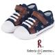 Roberta諾貝達 牛仔帆布休閒童鞋-深藍(中大童) product thumbnail 1