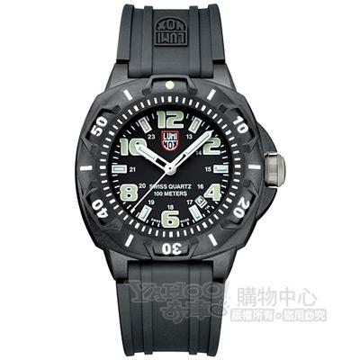 LUMINOX 海豹部隊前哨系列美國限定版腕錶-黑x螢光時標/43mm