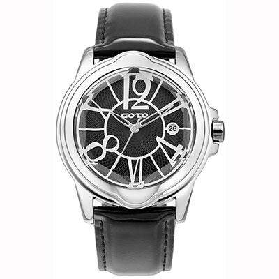 GOTO Romance時尚腕錶-黑/43mm