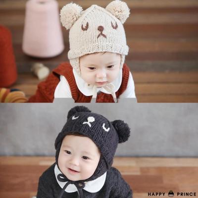韓國 Happy Prince 睡覺熊熊造型針織帽
