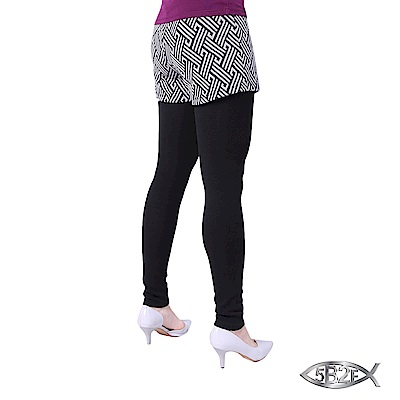 5B2F-五餅二魚-仿藤紋假兩件長褲-加厚內磨毛內