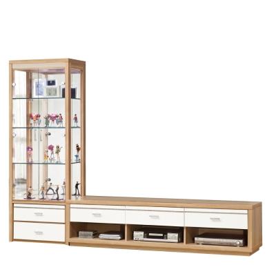 品家居 洛美8.2尺L櫃  展示櫃 長櫃 ~246.5x45.5.5x182cm~免組