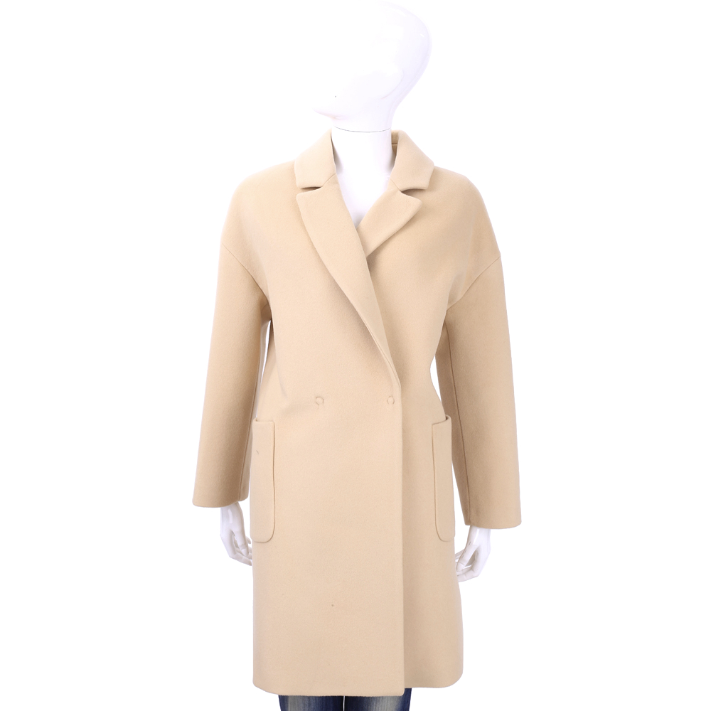 BLUGIRL 米駝色羊毛大衣外套
