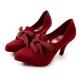 Melissa 歐風貴族綁帶高跟鞋-紅