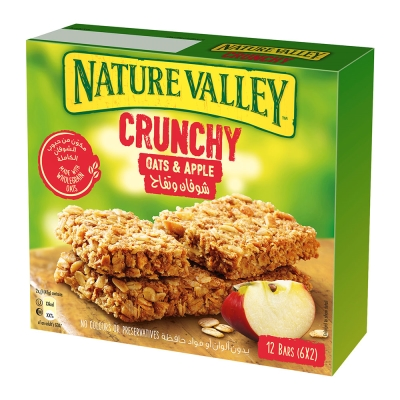 Nature Valley天然谷 纖穀派-蘋果燕麥(42gx6條)