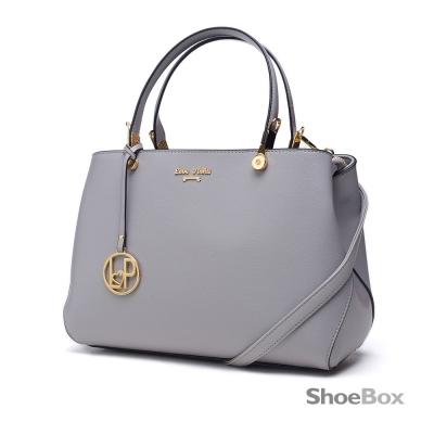 鞋櫃ShoeBox-女包-手提包-金屬吊飾方形手提包-灰