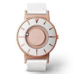 EONE 美國設計品牌 Bradley 觸感腕錶-玫瑰金-天使白錶帶/40mm