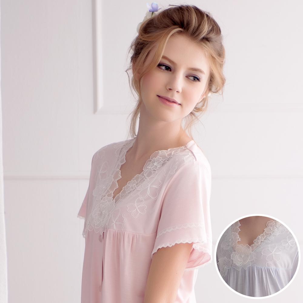 羅絲美睡衣 - 花仙子短袖褲裝睡衣 (優雅藍)