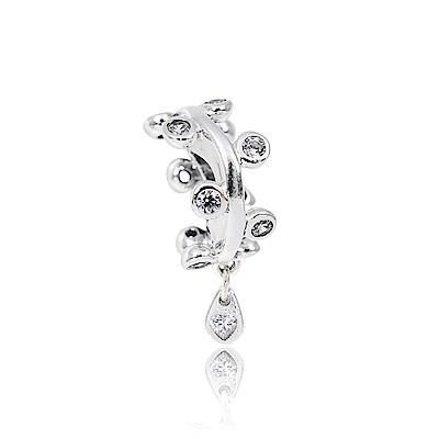 Pandora 潘朵拉 水滴愛心鑲鋯吊燈 純銀墜飾 串珠