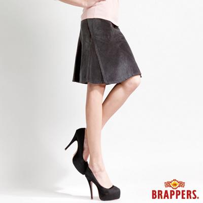 BRAPPERS 女款 女用彈性絨布魚尾裙-灰黑