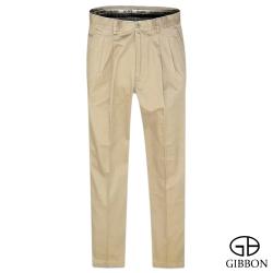 GIBBON 彈性幾何織紋口袋打摺長褲‧褐色31~40