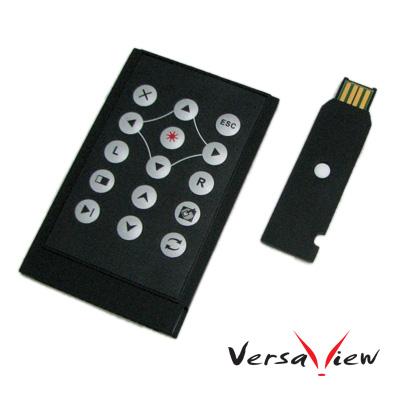 VersaView  V315K 超薄卡片式  RF雷射無線滑鼠簡報器(5mw)