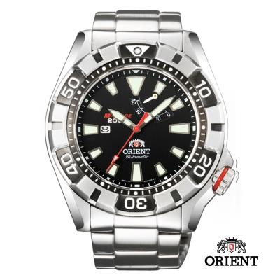 ORIENT東方錶M 潛水機械錶-黑/46mm