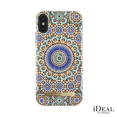 iDeal iPhone X 瑞典北歐時尚手機保護殼-摩洛哥幾何藝術