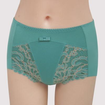 曼黛瑪璉-雙弧絲蛋白  高腰三角修飾褲(海洋藍)